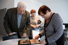Фотографии на память о встрече в Комитете ветеранов ГШ ВС РФ. Роянов Н.И., Васина Н.Е. и Борзенко В.А.