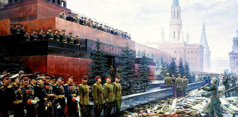 """Картина Михаила Хмелько """"Триумф победившей Родины""""."""